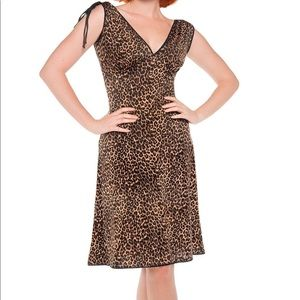 Pinup Couture Leopard Print  Anna Dress XL